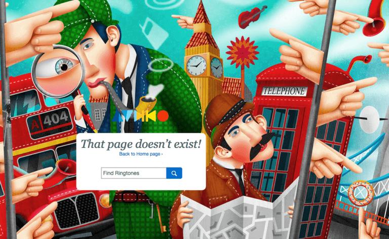 Nog een creeatieve 404 pagina