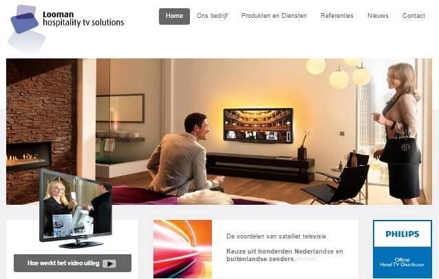 Website van Hospitality TV Solutions
